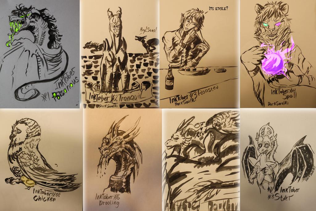 Eight days of InkTober by AnimaTenebroso