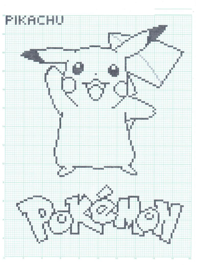 Pikachu - Graph Paper Ver. by FlamingSalad on DeviantArt