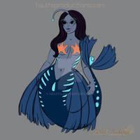 Angler Mermaid Pin Design