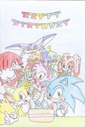 Sonics Birthday Card 20 Years Old By Hyuuu On DeviantArt