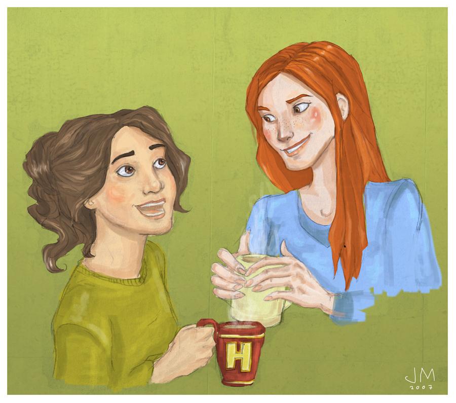 Hermione and Ginny by joshcmartin