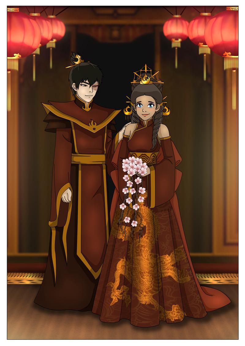 Zutara wedding bells by Kuro-AkumakoZutara Wedding