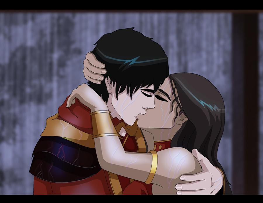 Zutara week day 7 Storm kiss by Kuro-Akumako