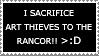 Sacrifice to Rancor Stamp by dazedgumball