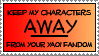 Anti-Yaoi Fandom Stamp by dazedgumball