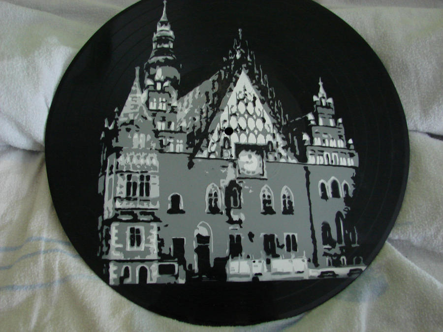 Wroclaw Town Hall in vinyl by vantidus