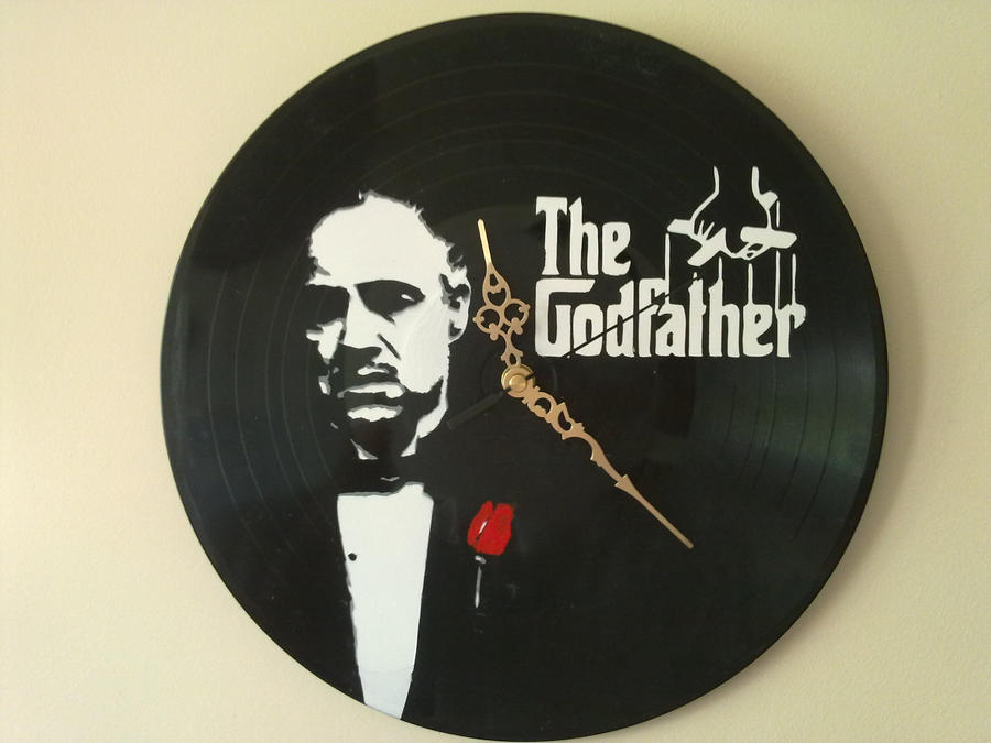 The Godfather stencil on vinyl clock by vantidus