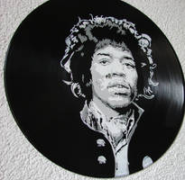 Jimi Hendrix on vinyl record by vantidus