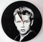 James Dean on vinyl record clock