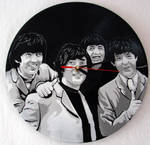 The Beatles on vinyl clock
