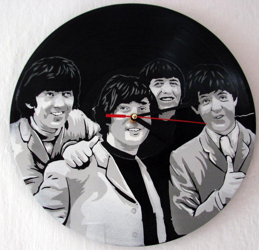 The Beatles on vinyl clock by vantidus