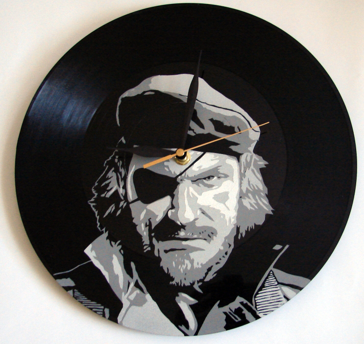 Big Boss on vinyl record by vantidus