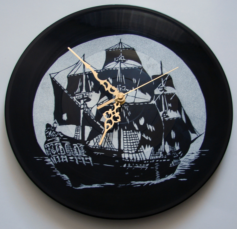 Black Pearl on vinyl record by vantidus