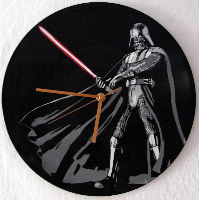 Darth Vader on vinyl record clock by vantidus
