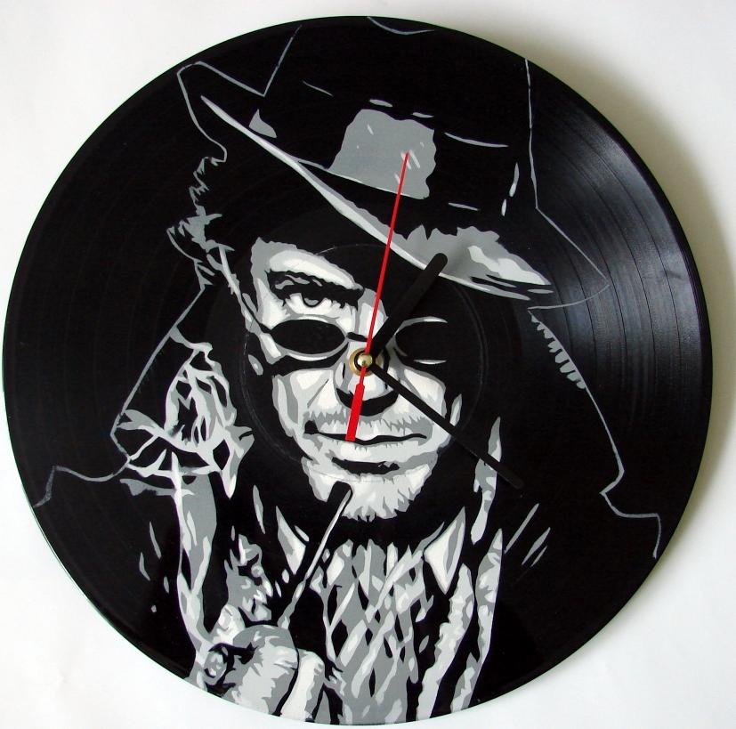 Sherlock Holmes vinyl record clock by vantidus