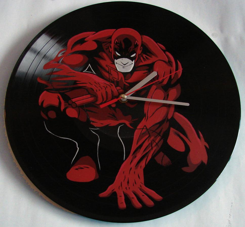 Daredevil vinyl record clock by vantidus