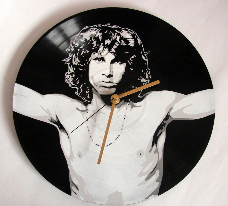 Jim Morrison from The Doors vinyl record by vantidus
