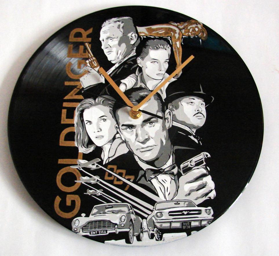 James Bond 007 Goldfinger vinyl record by vantidus