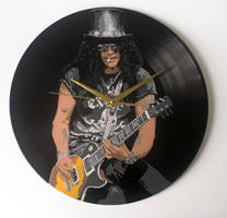 Slash painted on vinyl record by vantidus