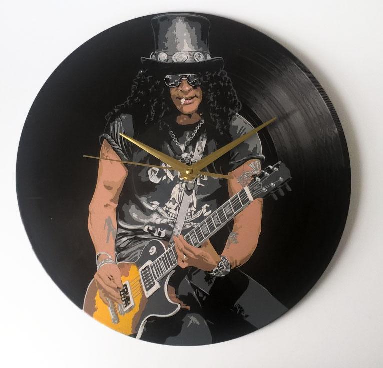 Slash painted on vinyl record by vantidus