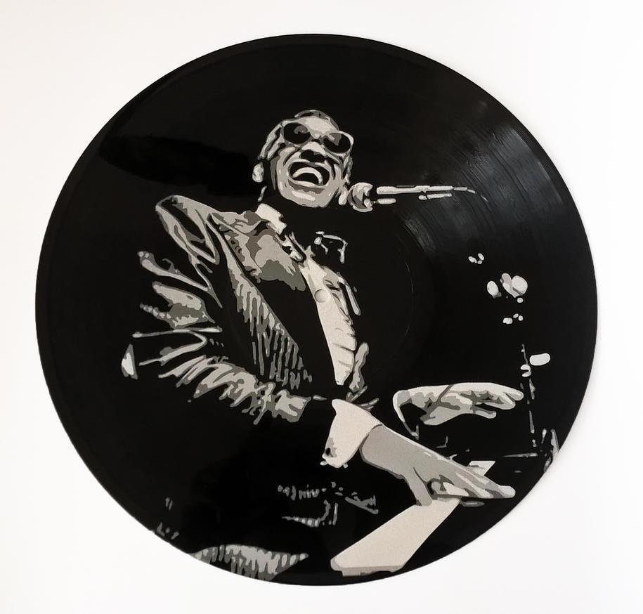 Ray Charles on vinyl record by vantidus
