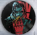Big Boss / Venom Snake painted on clock