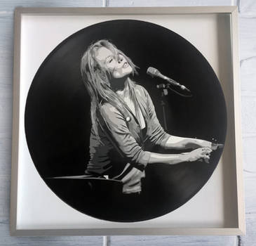 Tori Amos painted on vinyl record by vantidus