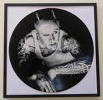 Keith Flint painted on vinyl record by vantidus