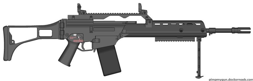 MW3 MG36 by Kweonza on deviantART | 846 x 272 jpeg 53kB