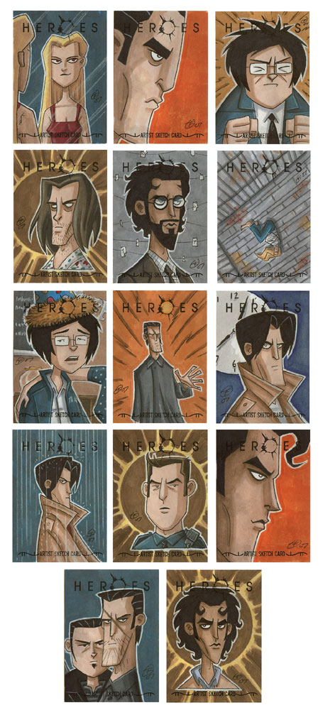Heroes Sketch Cards 2 by OtisFrampton