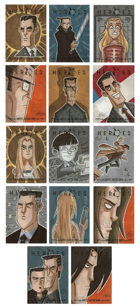 Heroes Sketch Cards 3 by OtisFrampton