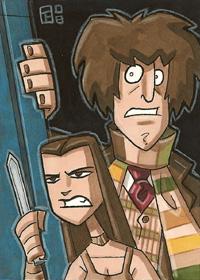 The Doctor and Leela by OtisFrampton