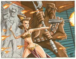 Leia Defends Her Boys by OtisFrampton