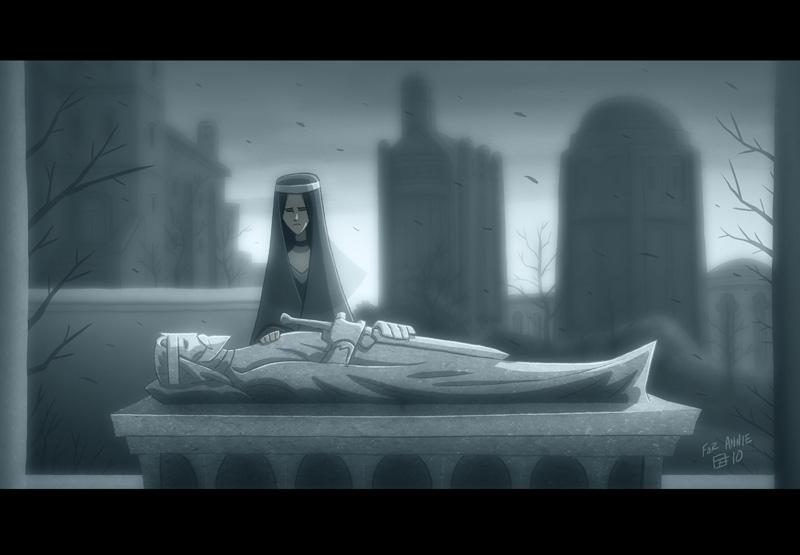 Mourning Aragorn by OtisFrampton