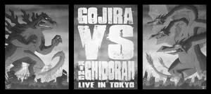 Gojira Vs King Ghidorah by OtisFrampton