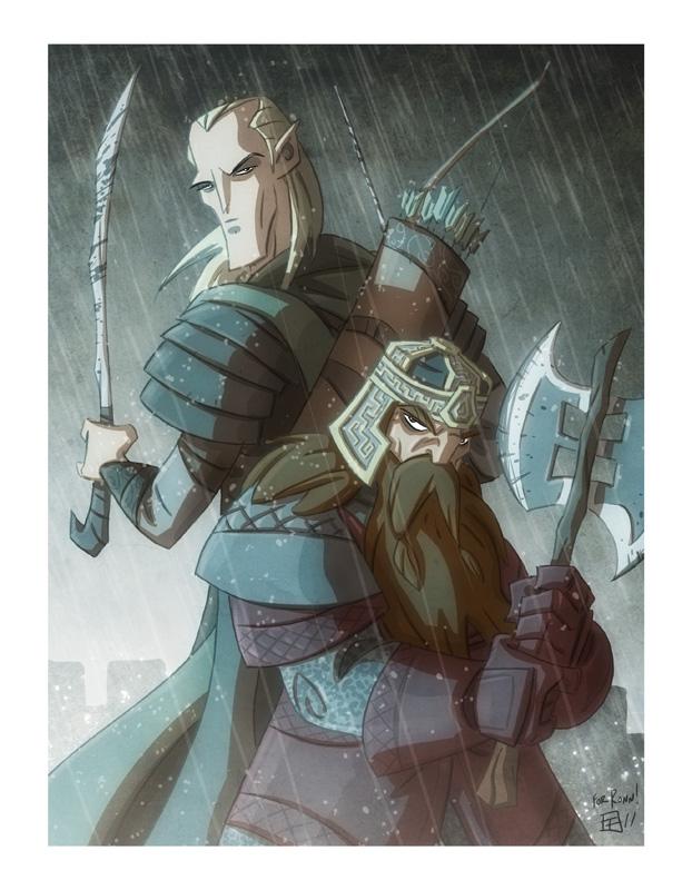 Elf and Dwarf by OtisFrampton