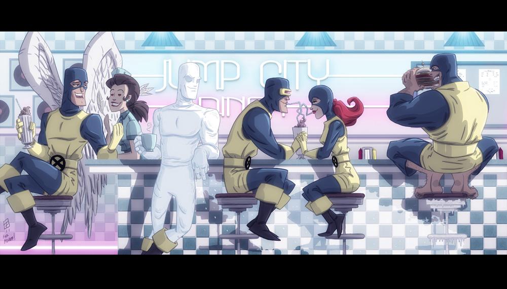 Jump City Diner X-Men by OtisFrampton