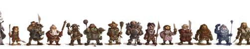 Dwarf-Line-Up by OtisFrampton