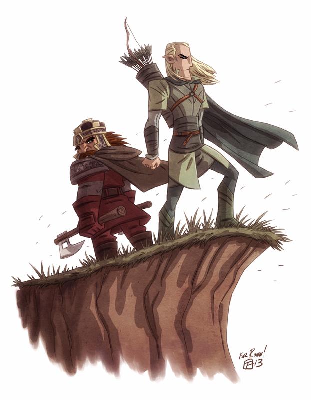 Legolas and Gimli by OtisFrampton on DeviantArt