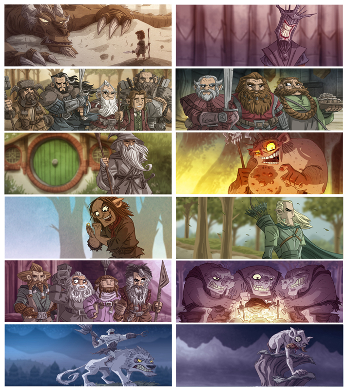 Tolkien Themed Facebook Covers by OtisFrampton
