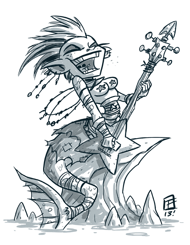 Punk Rock Mermaid by OtisFrampton