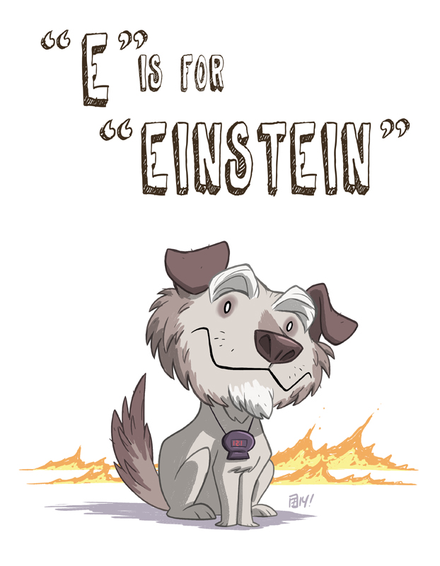 E Is For Einstein by OtisFrampton