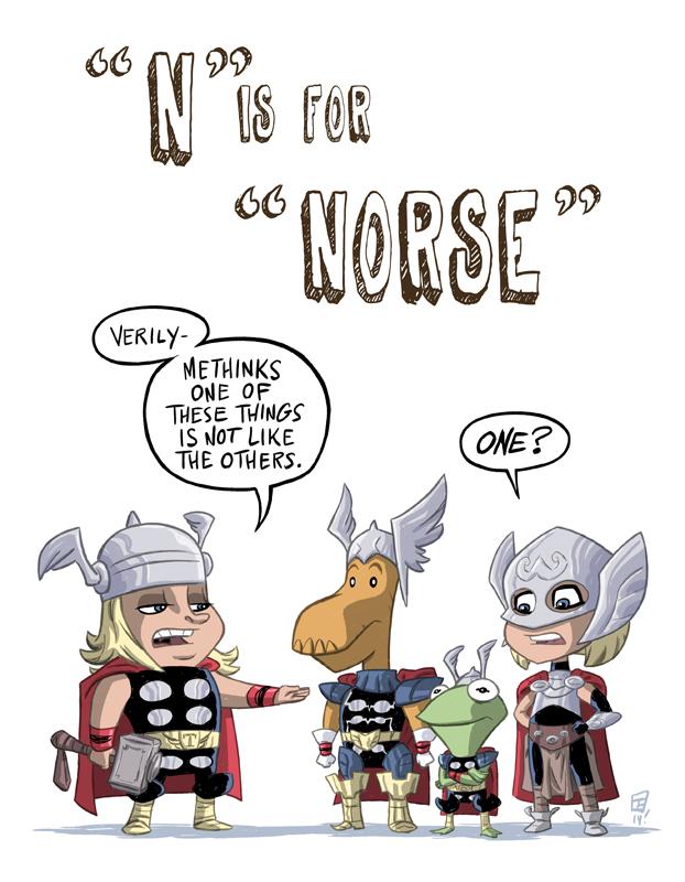 N Is For Norse by OtisFrampton