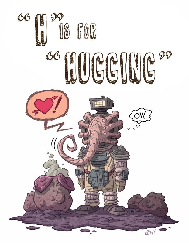 H Is For Hugging by OtisFrampton