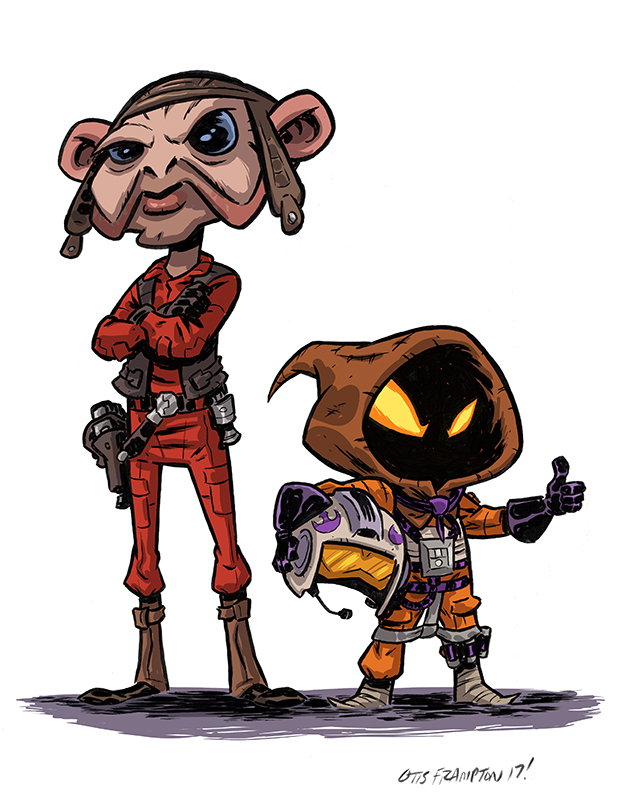 Rebel Pilots Come In All Sizes by OtisFrampton