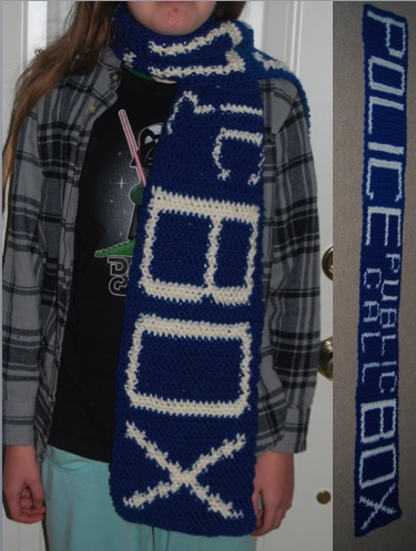 Tardis Scarf by SilverMaple1