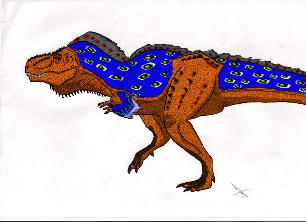 Tyranosaurus Rex- Mating Feathers by Amphicoelias