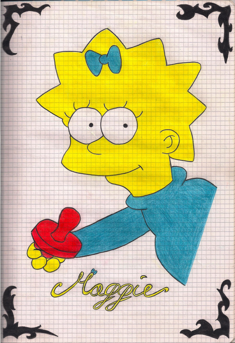Maggie Simpson by TheRainbowRockstar