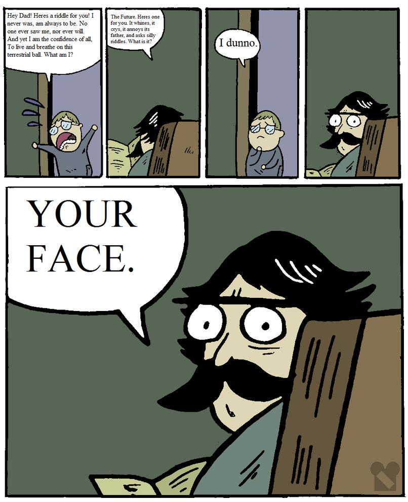 Stare Dad Riddle by Zandar13