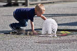 Playing With Water - Street Photography